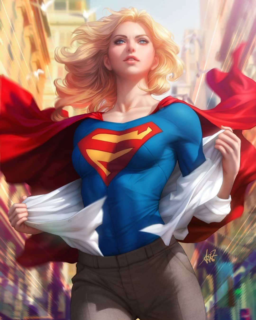 Supergirl stripped