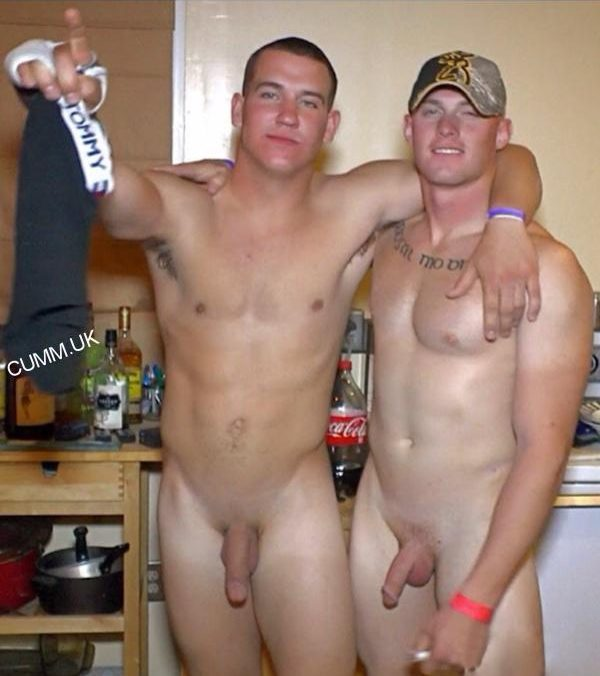 Straight men drunk and naked