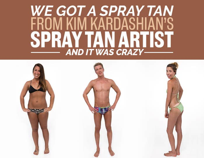 Totally tanned female bodies